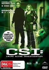 CSI COMPLETE SEASON TWO 6 DISC SET EPISODES 1-23 DVD RATED MA15+