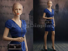 Female Fiberglass Mannequin Beautiful Face with Molded Hair Style #MZ-AD04