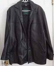 DANIER Black Leather Insulated Jacket  Removable Liner Size M