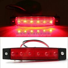 Red 6 LED 12V Side Markers Indicator Light Sidelamp For Bus Truck Trailer Lorry