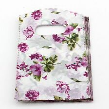 Jewelry Pouches.50pcs 9X15cm Flower  Plastic Bags Jewelry Gift Bag