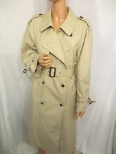 VINTAGE REPRO 1940s WARTIME WW2 STYLE LIGHT BEIGE TRENCH COAT SZ:12 REVIVAL