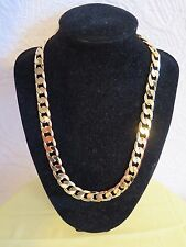 50cm 18K Gold Filled Stoneless Collar Curb Necklace, Husband Son Birthday Gift