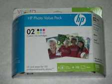 6 Value Pack Genuine HP 02 Series Photo Cartridges- 150 SHEETS. Great Value!
