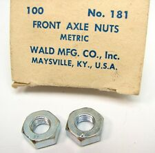 Vintage NOS Wald No. 181 Bicycle Metric Front Axle Nuts Cruiser Schwinn