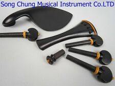 1set of violin ebony fittings 4/4,beautiful bedeck,musical instrument part