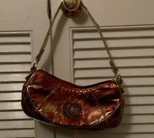 Red by Marc Ecko small handbag purse PVC silver & bronze metallic shell Fashion