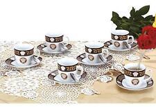 Versace Porcelain Coffe Set 18pcs Square for 6 people
