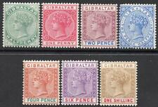 GIBRALTAR QV 1898 REISSUE IN ENGLISH CURRENCY SET M/M 2 SCANS