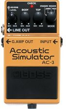 BOSS AC-3 Acoustic Simulator Compact Effect Foot Pedal Roland Brand New
