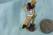 HARD ROCK CAFE PIN HOLLYWOOD FOOTBALL GIRL IN PURPLE 2001 LE 300