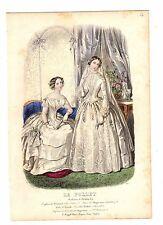 Le Follet 1851-Anais tondouze Placa de moda de color mano Antiguo # 34