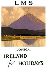 Art Print Donegal Ireland LMS Railway Travel Poster