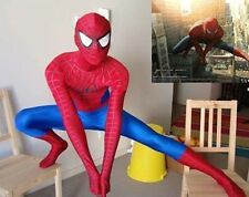 Red & Royal blue Lycra Zentai Full Body Spiderman New Costume Catsuit S-XXL