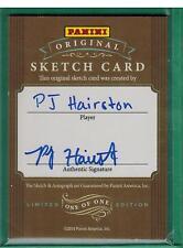 2014 PANINI ORIGINAL SKETCH CARD P.J HAIRSTON 1/1 AUTO
