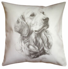 Golden Retriever MS Breed of Dog Themed Cotton Cushion Cover - Perfect Gift