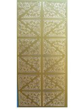 CORNERS Peel Off Stickers Flourish Vine Corners Card Making Gold Silver Black