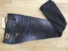 Men's black & brown Zilli jeans Made in France Size 36