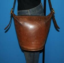 Vtg 1970 COACH Distressed Brown Leather HELEN'S LEGACY Bucket Tote Purse Bag NYC