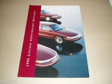 1996 Lincoln Town Car Mark VIII Continental Anniversary sales brochure folder
