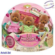 LI'L WOODZEEZ HEALTHNUGGLES BEARS FAMILY 4 FIGURINES FIT CALICO TOYS NEW OURS