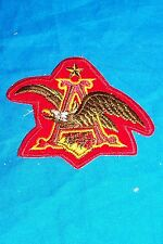 Anheuser Busch Beer Patch Eagle Bud Budweiser Coat Jacket Cap Hat Brewery Brew