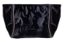 Ysl Yves Saint Laurent Beaute Beauty patent black cosmetic Bag Makeup Case purse