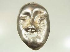Große Designer Masken Brosche Silber Handarbeit von Angelo Motta Hamburg