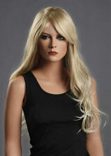 WJIA1028  charming culry long  blonde cosplay health wigs for women hair wig