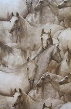 YORK BROWN/BEIGE/TAN HORSE & PONY wallpaper Double Roll
