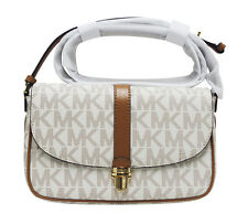 Michael Kors Charlton Vanilla Large Crossbody PVC Hand Bag 32S6GCNC2V-150 NEW