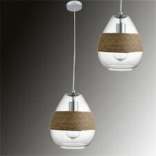 Lampada A Sospensione Tessuto Di Vetro fascia cordini Ø20cm LED