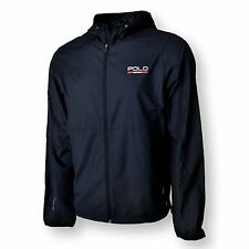 Polo Ralph Lauren Jacket Mens S Windbreaker Hoodie Sport Performance BLACK NEW