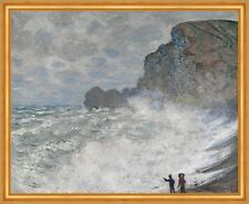 Rough weather at Etretat Claude Monet Wetter Frankreich Küste Meer B A2 01254