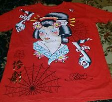 Shiroi Neko T Shirt Red Chinese Mens Rock Roll Size Large short sleeve