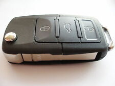 REPLACEMENT 3 BUTTON FLIP KEY CASE FOR VW GOLF PASSAT BETTLE CADDY REMOTE KEY