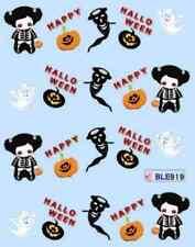 Nail art stickers décalcomanie: Halloween citrouilles poupées fantômes