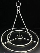 "2PCS 10"" W STAINLESS STEEL CHANDELIER FRAME WEDDING  PARTY CENTERPIECE DIY"