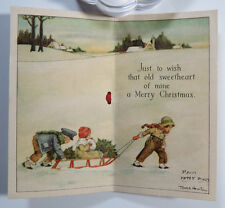 Antique Greeting Card - Merry Christmas to My Wife, Campbell Art Co. Cards 1916