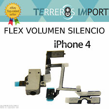 Flex Volumen Jack 3.5mm Silencio iPhone 4 Blanco Reparacion