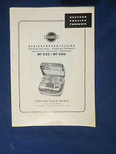 KORTING MT 5123 MT 5143 OWNER OPERATING MANUAL ENGLISH GERMAN FRENCH GOOD COND