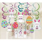 30 VALUE EASTER EGG HUNT PARTY HANGING CUTOUT FOIL SWIRL DECORATIONS