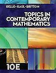 Topics in Contemporary Mathematics by Bello, Britto, Kaul; HC 2013 10th edition