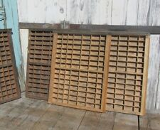 VINTAGE PRINTERS CABINET TYPE SET LETTERPRESS WOOD WOODEN PRINTING TRAY DRAWER