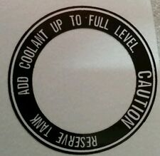 HONDA CX500 MODELS  COOLANT RESERVOIR WARNING SIDE PANEL DECAL