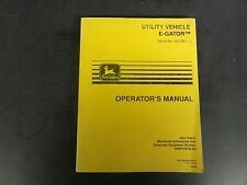 John Deere Utility Vehicle E-Gator Operator's Manual OMM135735 E9   '99