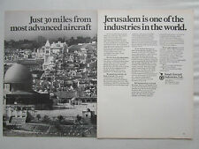 5/1970 PUB IAI ISRAEL AIRCRAFT INDUSTRIES JERUSALEM ARAVA COMMODORE ORIGINAL AD