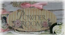"""POWDER ROOM"" Vintage~Shabby Chic~Country Cottage style - Wall Decor Sign"