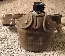 Korean War Era Canteen With Nesting Cup Cover And Belt