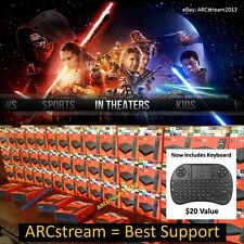 AMAZON FIRE TV BOX & KEYBOARD MOVIES LIVE TV SPORTS HD TV SHOWS BEST BOX v17.1